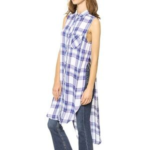 Rails Jordyn Sleeveless Plaid Button Down Shirt XS